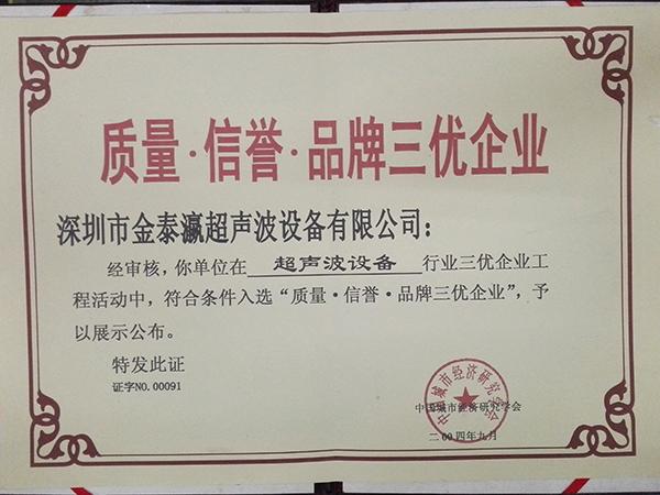 金泰瀛-三优企业证书