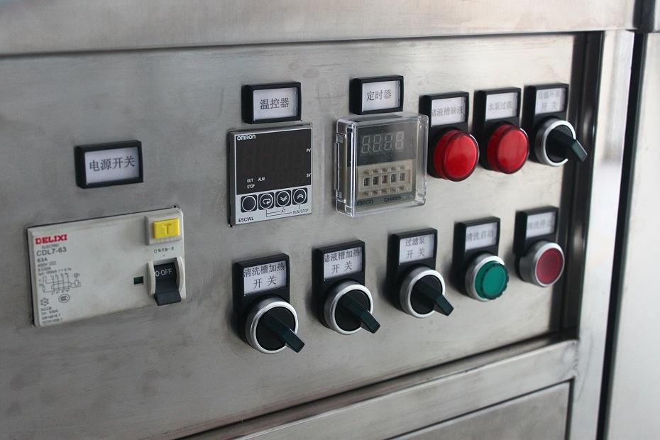 单槽超声波清洗机控制面板